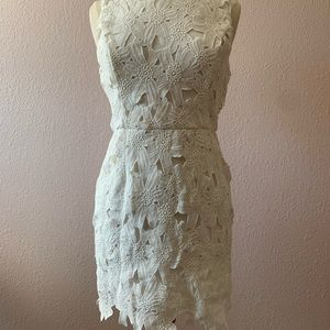 ASTR NWOT Fitted White Dress